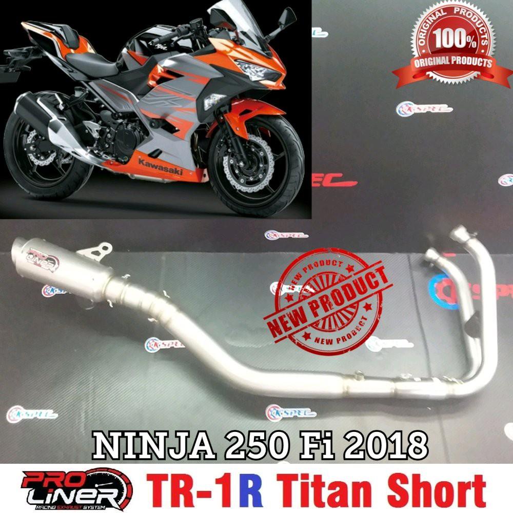 TOKO SPAREPART MOTOR ProLiner NINJA 250 FI 2018 New TR 1R Titan Short Knalpot Racing | Shopee Indonesia