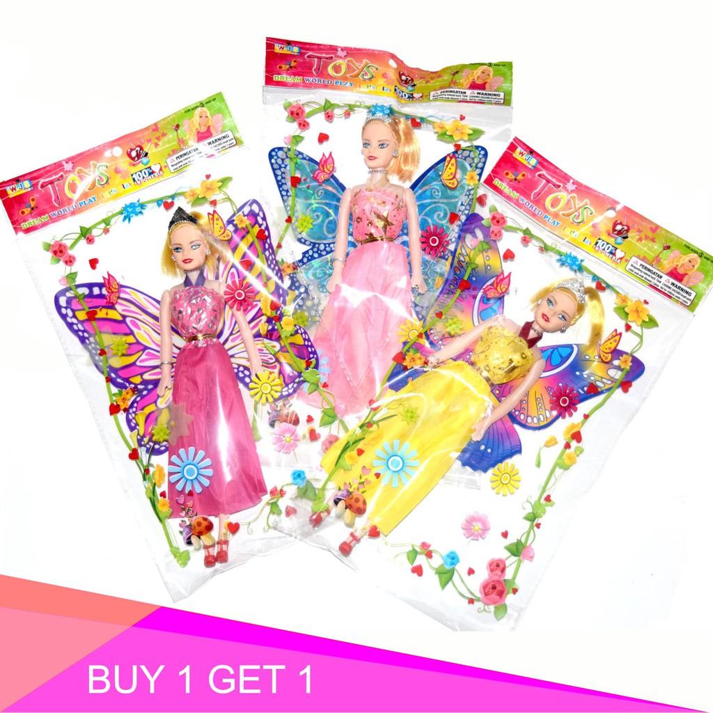 WJS Toys Barbie Sayap Mainan Anak Perempuan Boneka Barbie Peri