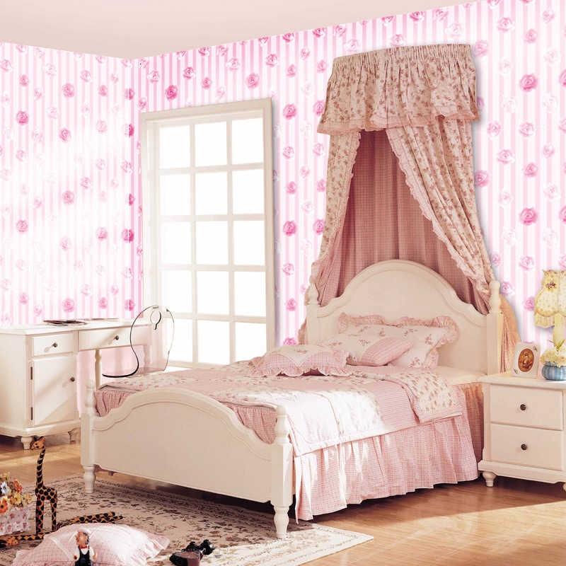 Stiker Dinding Desain Bunga Mawar Warna Pink Untuk Kamar Tidur Anak Perempuan Shopee Indonesia