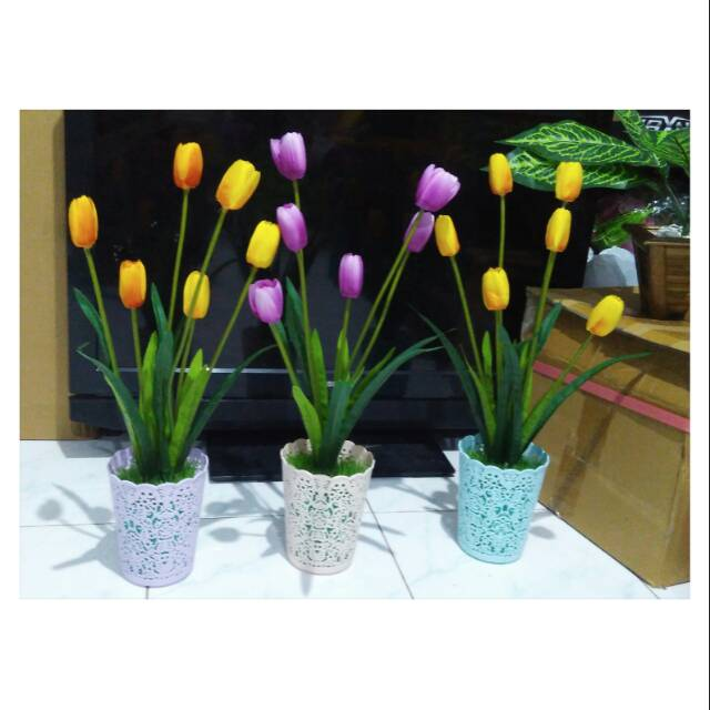 tulip bunga tulip tulip plastik hiasan bunga tulip bunga artificial  c31b094325