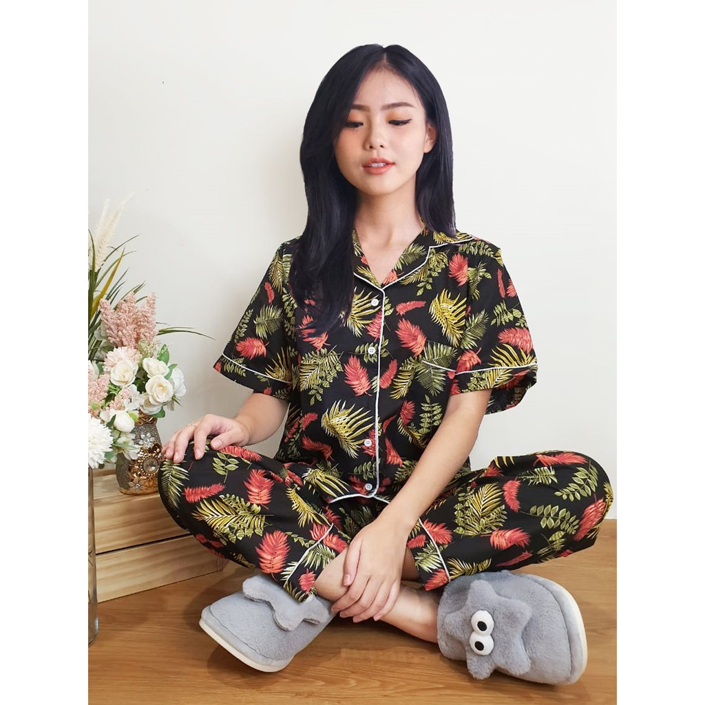 piyama wanita katun jepang  shopee indonesia