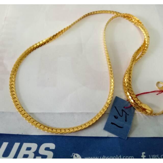 Kalung emas, rantai emas asli berat 5 gram kadar 875 ubs