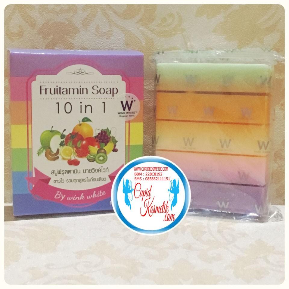 Ready Fruitamin Soap Sabun Original Thailand Logo Wink 10 In 1 Frutamin White Shopee Indonesia