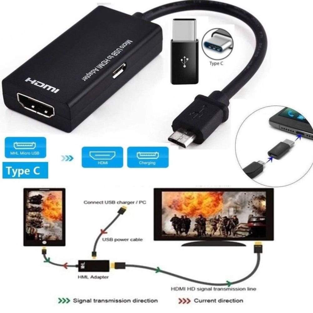 Mini HDMI Type C Male To HDMI Type A Female Adapter Connector For 1080P TV HDTV