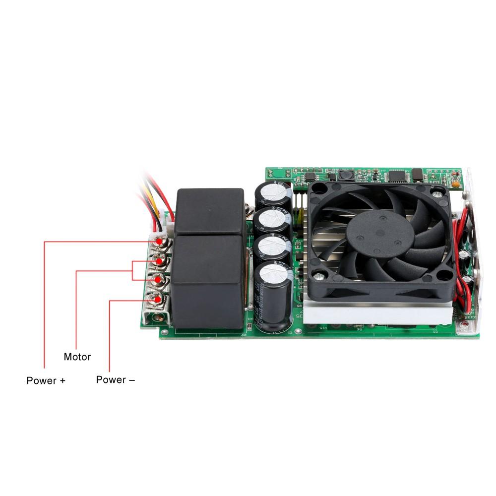 KKmoon Adjustable Speed Controller Programable Reversible DC Motor Regulator PWM Control 10-30V 100A 3000W