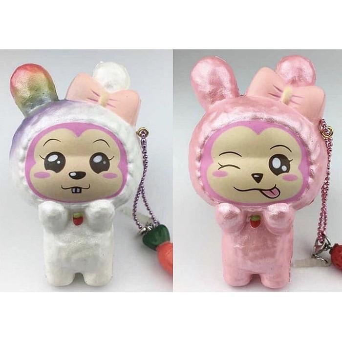 Puni Maru Animal Popsicle Squishy Pink Bunny Squishy