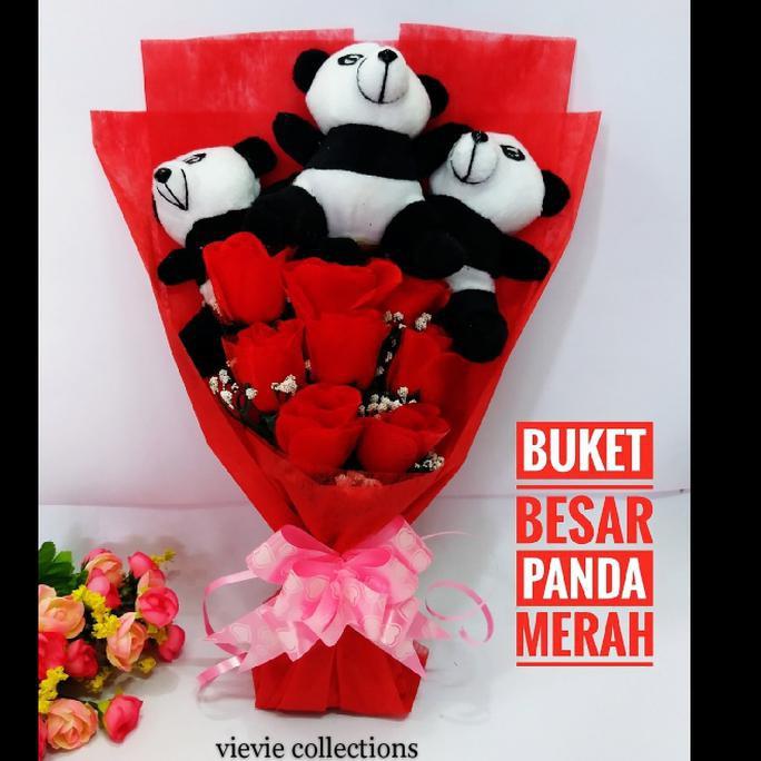 Buket Boneka Panda Besar Buket Bunga Buket Valentine Handbouqet Terbaik Shopee Indonesia