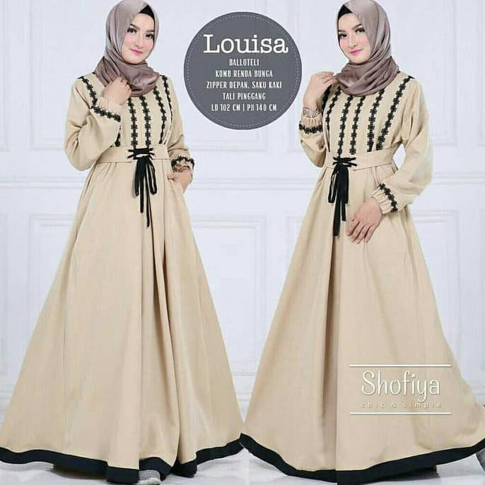 Gamis Gaul 2020 Fashion Muslim Baju Gamis Wanita Terbaru Louisa Dress Murah Ladangki Production Shopee Indonesia