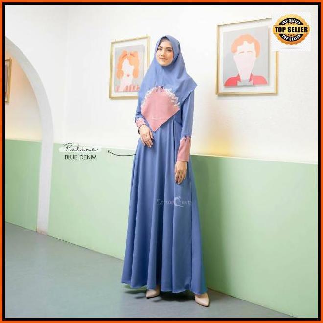 Gamis Emmaqueen Raline Dress Size S Xxl Bisa Dress Saja Bisa Satu Set Jilbab Shopee Indonesia