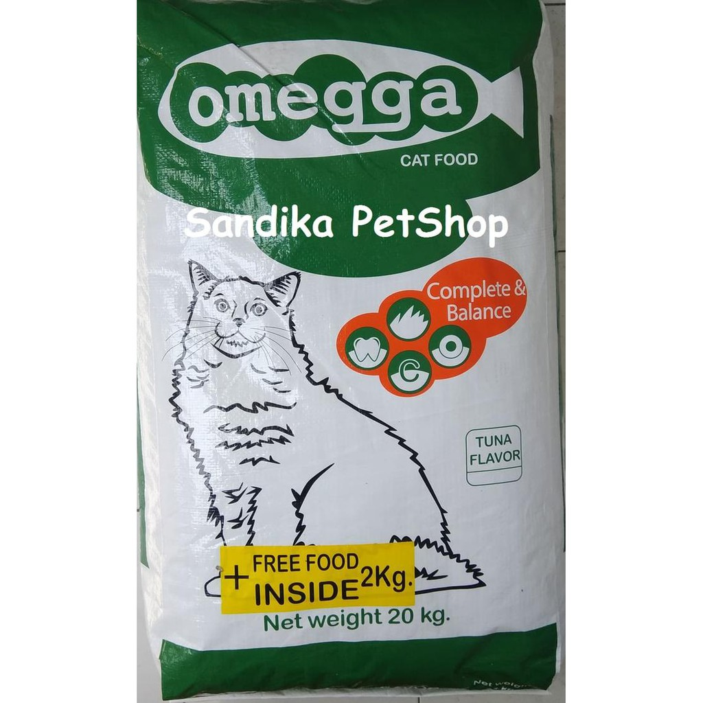 121 Makanan Kucing Omegga Omega 20kg Rasa Tuna Shopee Indonesia Momo Cat