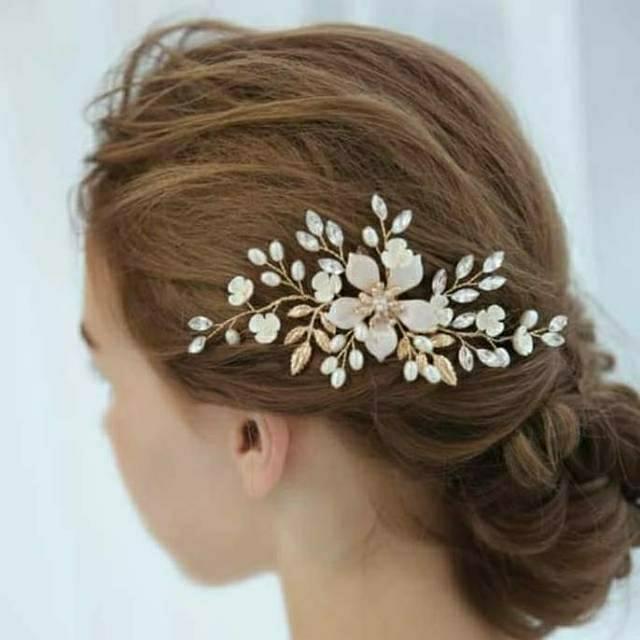 Sirkam Sanggul Modern Aksesoris Rambut Rosegold Haircomb Aksesorimaya Shopee Indonesia