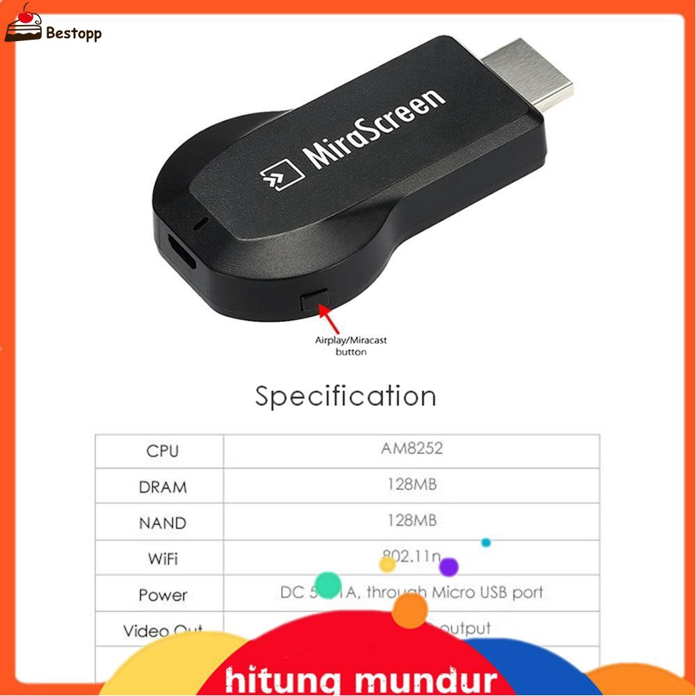 MiraScreen G4 WIFI HD Display AV TV Dongle Miracast DLNA Airplay 1080P Receiver