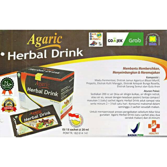 Agaric Herbal Drink Obat Stroke Dan Melancarkan Darah Asli Nasa Shopee Indonesia