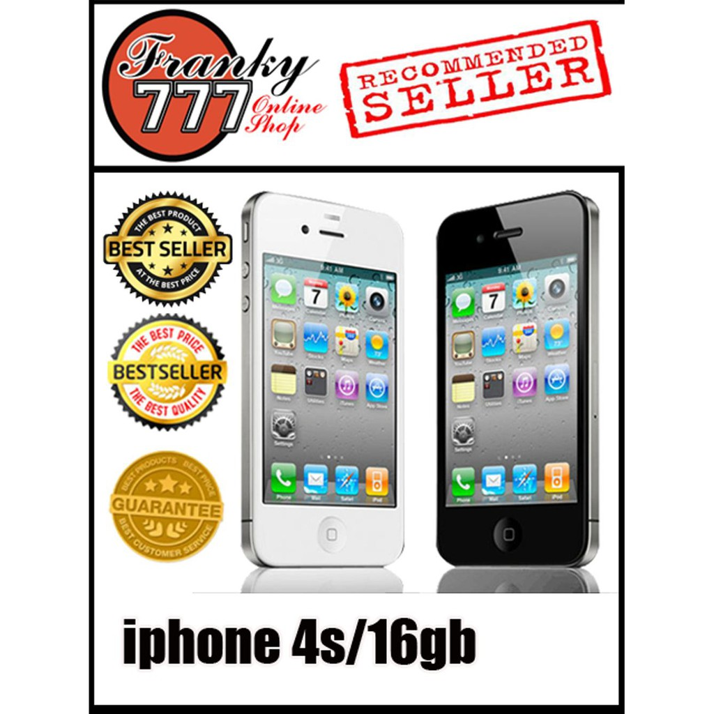 Refurbished Apple Iphone 4s 16gb Putih Grade A1 Shopee Apple Iphone 5 16 Gb Hitam Smartphone