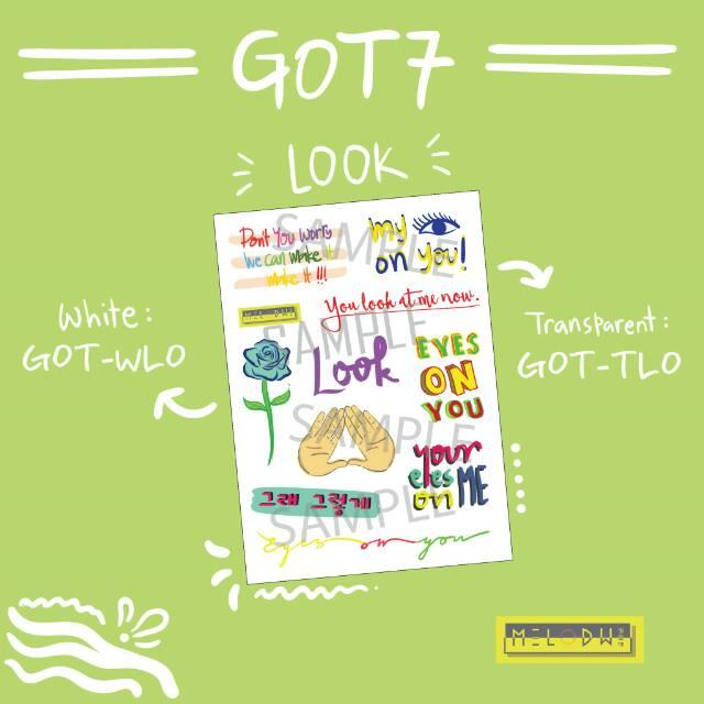 Got7 Transparent White Sticker Shopee Indonesia