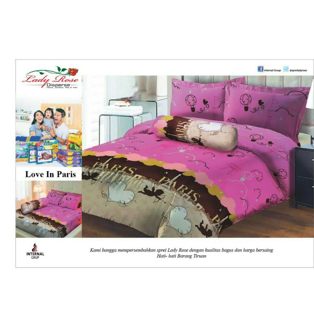 Grosir Seprei Bedcover Lady Rose No1 180x200 Love In Paris California B2g2 Mirah Shopee Indonesia