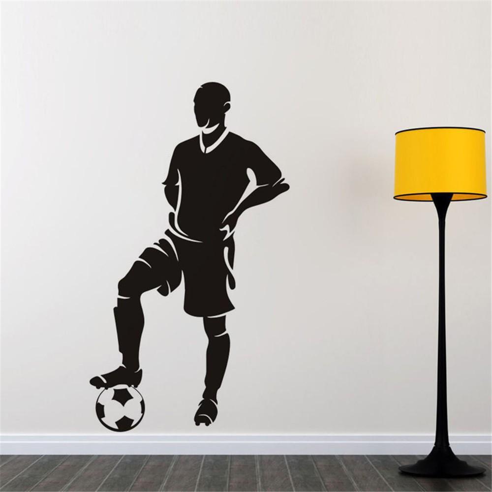 Stiker Dinding Dengan Bahan PVC Mudah Dilepas Dan Gambar Pemain Sepak Bola