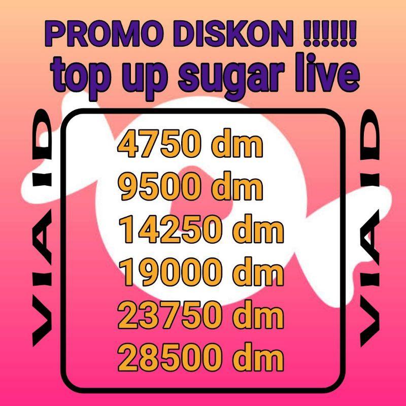 TOP UP SUGAR LIVE TERBARU VIA ID AMAN,CEPAT DAN TERPERCAYA