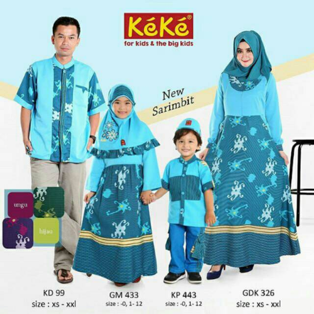 GROSIR Baju Lebaran Keluarga Nibras Sarimbit Lebaran 55 Navy Baju Seragam Keluarga | Shopee Indonesia