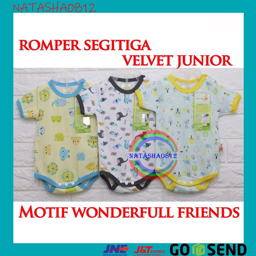 c3309462bb16f ROMPER JUMPER SEGITIGA / Baju Kodok bayi VELVET JUNIOR ukuran Newborn