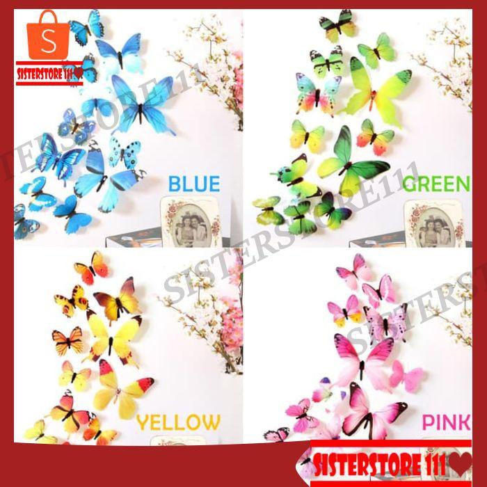New 3D Wall Sticker Kupu Kupu butterfly, Hiasan Dinding, Dekorasi Rumah | Shopee Indonesia