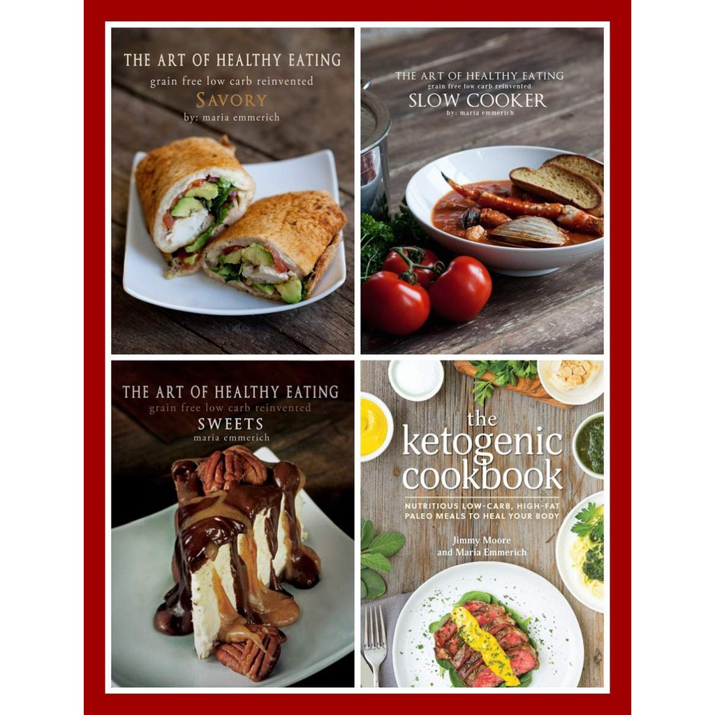 Art Of Healthy Eating Savory Slow Cooker Sweet Ketogenic Cookbook Jimmy Moore Maria Emmerich Shopee Indonesia
