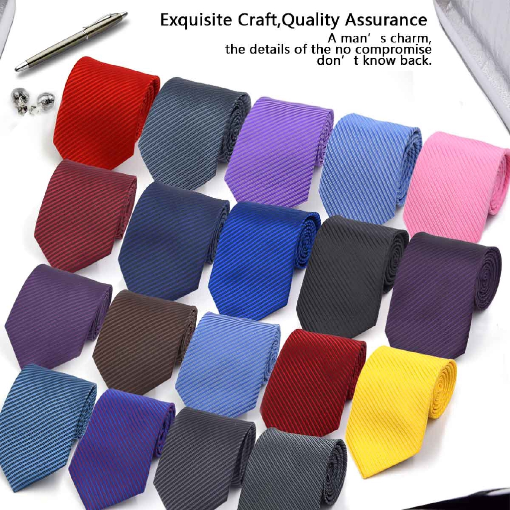 d6ee812e775d 3.2 Inch Business Gentleman Silk Necktie Wedding Classic Casual Tie Unisex  Satin | Shopee Indonesia