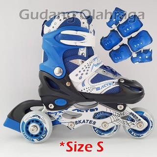 Sepatu Roda BAJAJ + Deker   Pelindung Inline Skate Satu Set - Perlengkapan  Olahraga 12af308494