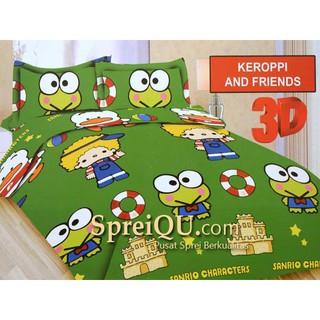 ... Sprei Bonita 3D King Keroppi And Friends 180x200. habis