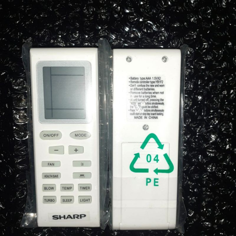 Remote ac sharp standar R32 type UCY 1/2PK - 2.5PK