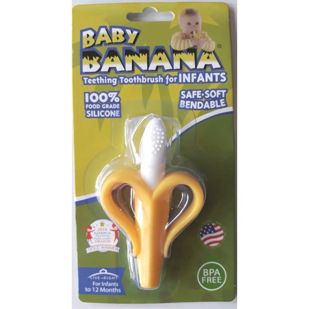 Iq Baby 2 In 1 Banana Silicone Teether Toothbrush Atau Gigitan Bayi Infant Teething Sikat Gigi Silikon Silicon Shopee