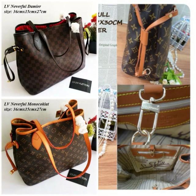 7c13485c93 LV - Neverfull - Tas Shoulder Bag