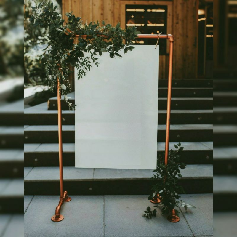 Standing Besi Welcome Sign Frame Bingkai Dekorasi Wedding Photobooth Rustic Nikahan Lamaran Shopee Indonesia