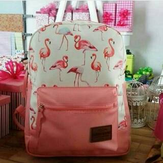 Tas Ransel NATANIA Flamingo Pink Rumah Warna 7575f6e60b