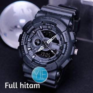 Jam Tangan Pria Sport Army Digitec DG 2020 T Dual Time Anti Air Original - Full Hitam