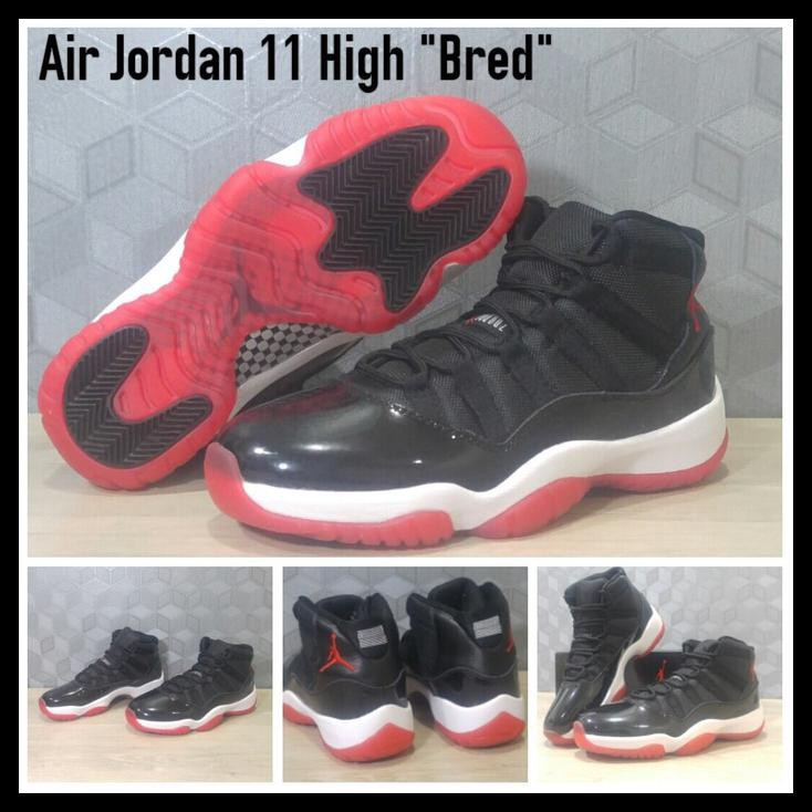 UPDATE NIKE AIR JORDAN 11 RETRO BLACK WHITE RED SEPATU BASKET MURAH ... 1f7bf6cd99