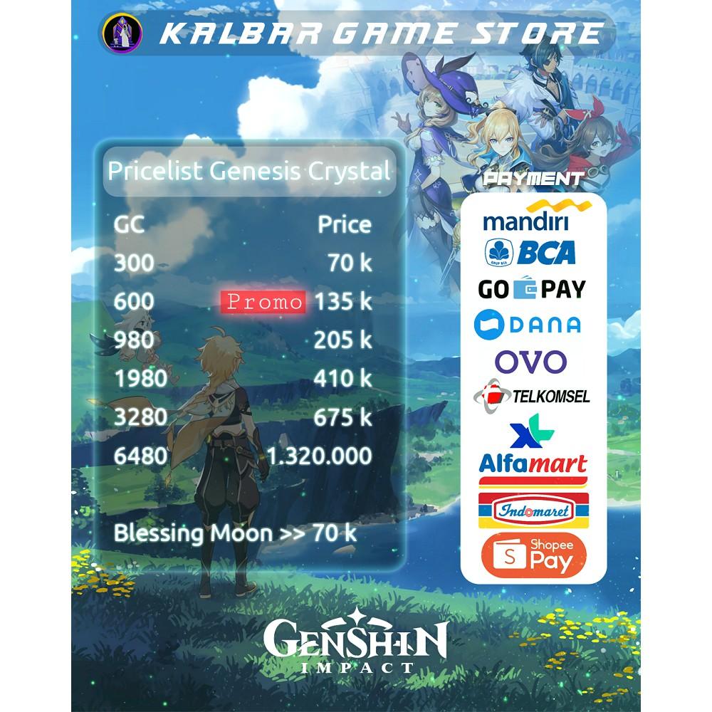 Topup Genesis Crystal Genshin Impact Legal Login Shopee Indonesia