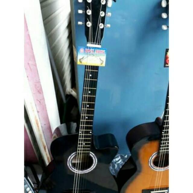 Free Ongkir GOJEK Jakarta Gitar Akustik Lengkap