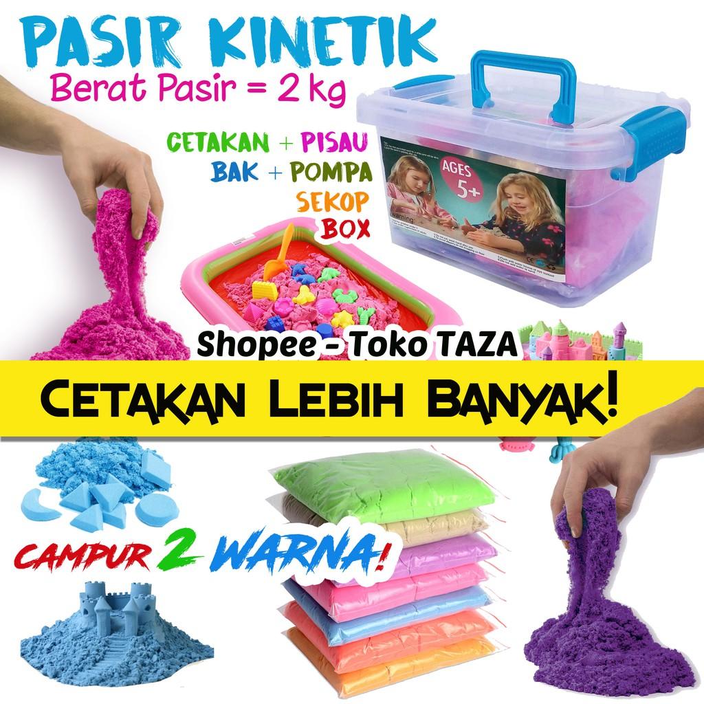 PASIR AJAIB REFILL 1 KG| PASIR KINETIK REFILL| MAINAN ANAK EDUKATIF | MAINAN ANAK | Shopee Indonesia