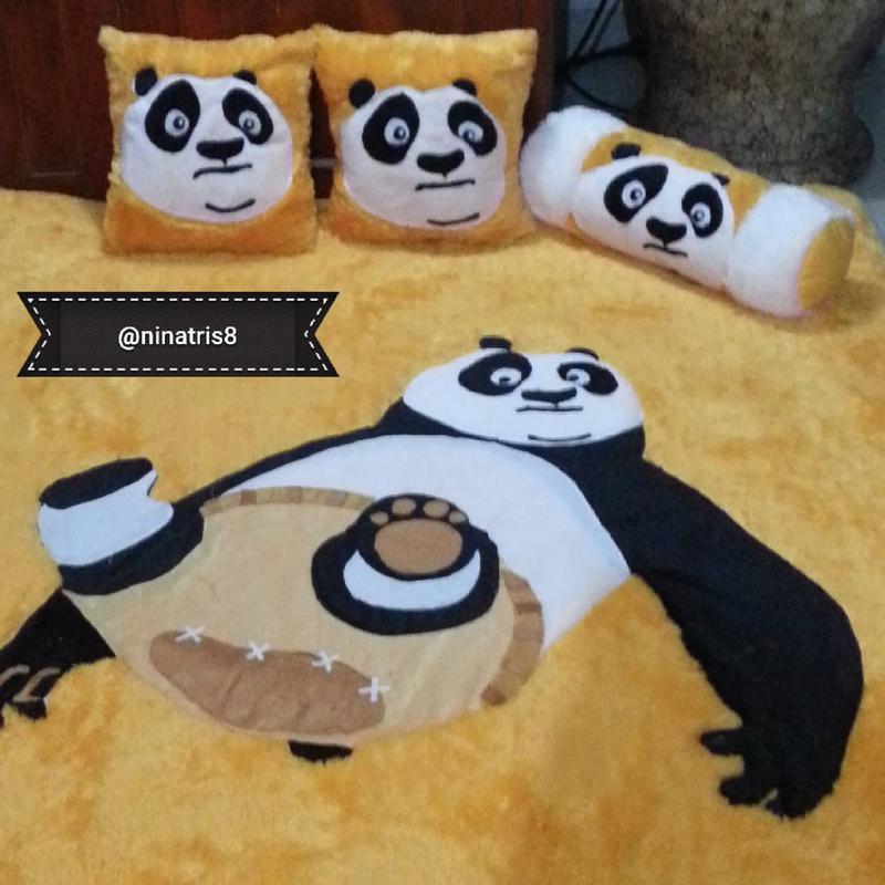 Karpet Karakter Bulu Rasfur Murah 5cm Uk 150x200 Motif Kungfu Panda | Shopee Indonesia