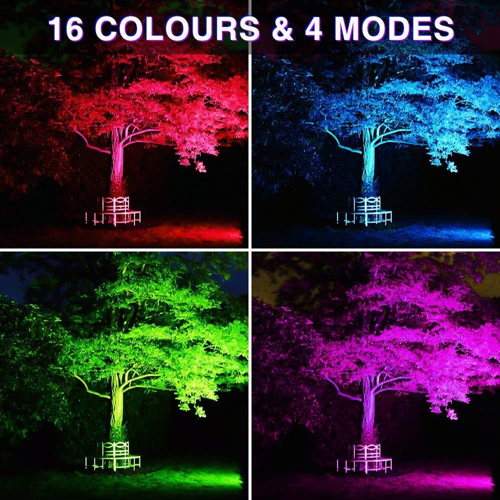 Lampu Sorot Tembak Led Rgb Smd 20w Warna Warni Panggung Taman Dekorasi Pelaminan Shopee Indonesia