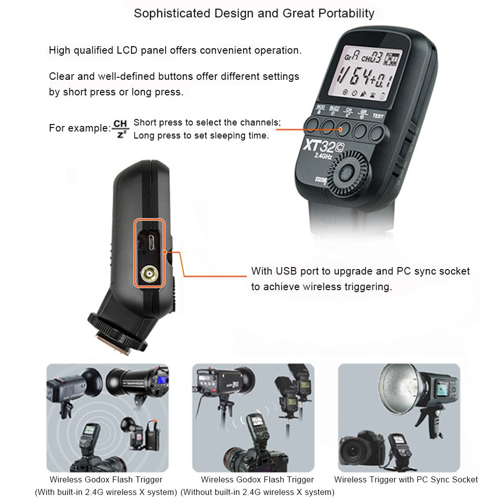 Electronics & Photo Remote Controls Godox XT32C HSS 1/8000s 2.4G ...