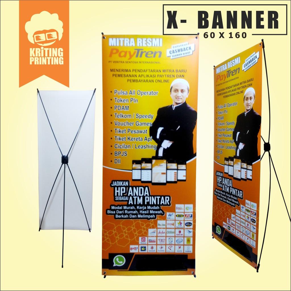 Cetak X-Banner Ukuran 9x19 cm
