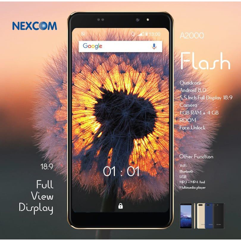NEXCOM A2000 FLASH RAM 1GB ROM 4GB LAYAR 5.5 INCH