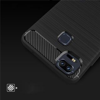 Case Ipaky Carbon Fiber for Xiaomi Redmi Note 4X Softcase Premium Shockproof TPU - Hitam -