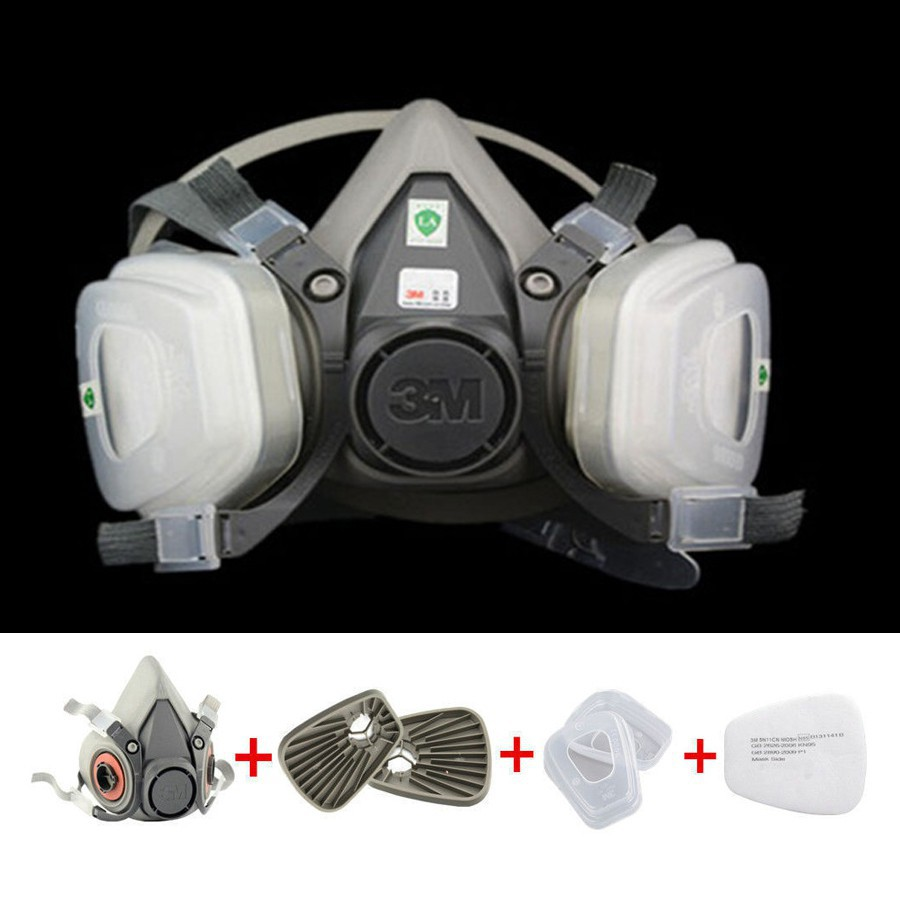 harga 7 in 1 Suit half Face 3M 6200 Gas mask Spray Painting Protection Respirator Shopee.co.id