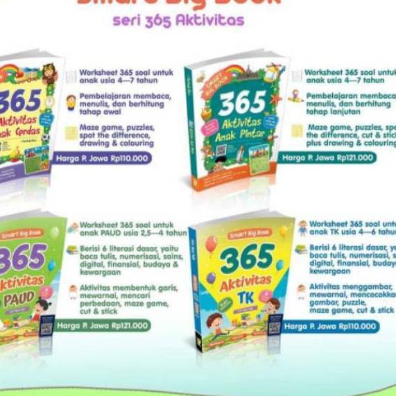 Jan584 Buku Anak Tk Paud 365 Aktivitas Anak Pintar Paud Tk Shopee Indonesia