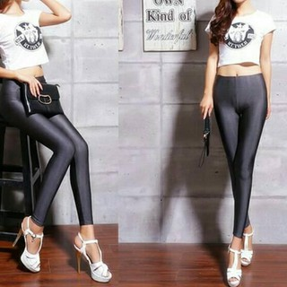 Legging Panjang Licin Shiny Grey Abu Yoga Renang Gym Senam Shopee Indonesia