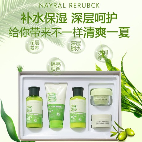 Web Celebrity Hot Style In South Korea Natural Joy Aloe Skin Care Products Suit The Other Set Clean Facial Five Box Of Authenticity Shopee Indonesia