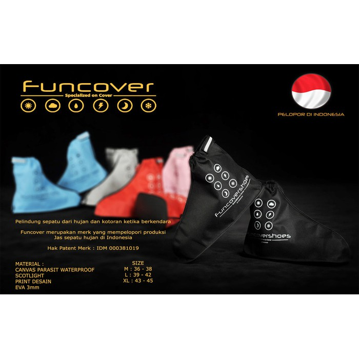 TWLBS Distributor Jas sepatu cover shoes mantel hujan anti air Funcover cosh Limited | Shopee Indonesia